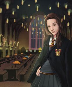 Caricatura estilo Harry Potter